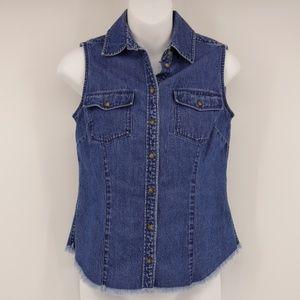 HAROLD'S Vest Medium Wash Blue Denim Jacket 🌻
